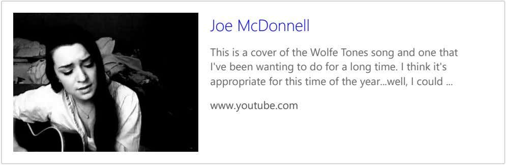 Joe McDonnell This is a cover of the Wolfe Tones song and one that I've