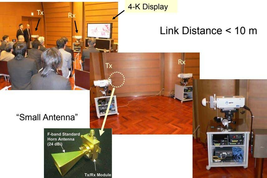 "4-K Display Tx Rx Link Distance < 10 m Rx Tx ""Small Antenna"""