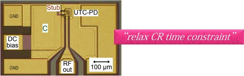 "Stub UTC-PD C ""relax CR time constraint"" DC bias RF 100 µm out"