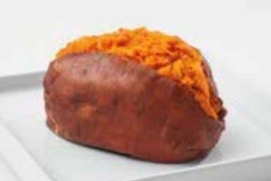 150-CALORIE SNACKS Baked Sweet Potato 1 medium sweet potato, baked at 450° F until fork-tender, seasoned