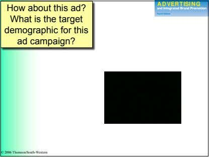 How about this ad? What is the target demographic for this ad campaign? © 2006