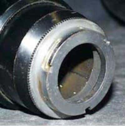 to right: lens mount, Close-up adapter, C- mount adapter. Arri PL Sometimes only one (or two