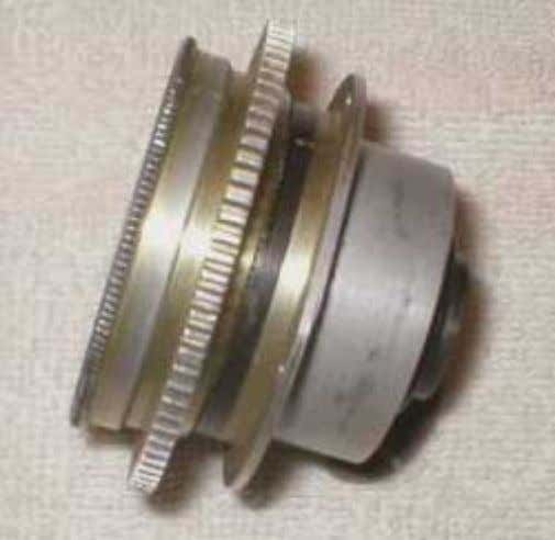 standard (35mm) four screw holes on flange mount. (16mm version is slightly smaller and has only