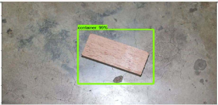 to classify the desired object which in our case is container. Fig 3.11: Detection of single