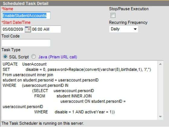 User Management and LDAP Integration  Managing Tasks in Infinite Campus Re-enable Student accounts that are