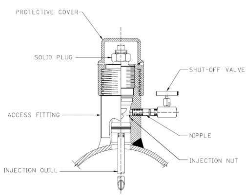 tube (quill, cross head or perpendicular spray nozzle). Figure 1 - Retrievable Type Injection System The