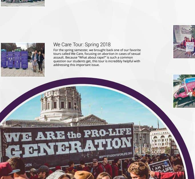 We Care Tour: Spring 2018 For the spring semester, we brought back one of our