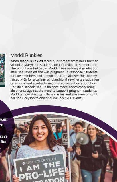 Maddi Runkles When Maddi Runkles faced punishment from her Christian school in Maryland, Students for