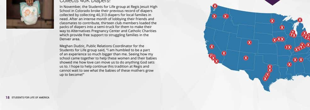 In November, the Students for Life group at Regis Jesuit High School in Colorado broke