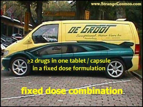 >2 drugs in one tablet / capsule in a fixed dose formulation fixedfixed dosedose combinationcombination