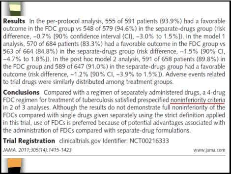 5/11/2014 Pediatric FDC formulation WHO IDAI  H : 30 mg  50 mg H :