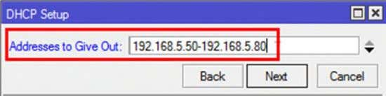 - Isi Gateway for DHCP Network : 192.168.5.2 - Dan untuk range IP Addressnya (IP Pool)