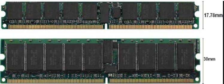 Figure 6. VLP DIMM vs. Standard DIMM Within the standard and VLP DIMMs are different
