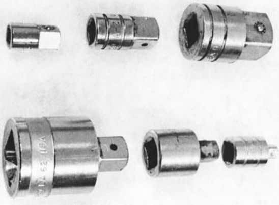 Figure 1-19. Socket drive adapters. These adapters permit the use of a 3/8-inch drive ratchet with