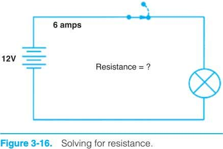Figure 3-16. Solving for resistance.