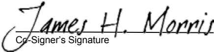 Co-Signer's Signature