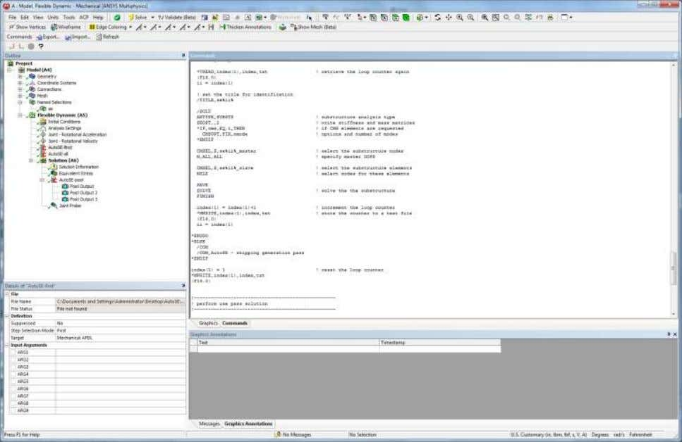 APDL macros embedded in the simulation tree for generation, use and expansion pass 14 © 2011