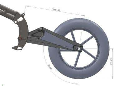 Steering axle is fixed and the forces go by swing arm axle with the frame. Here