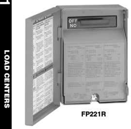 FP221R 1 LOAD CENTERS