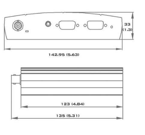 09 LED Link 05 CompactFlash port 10 LED Traffic Dimensions in mm (inches) Rack-Mount Kit (optional)