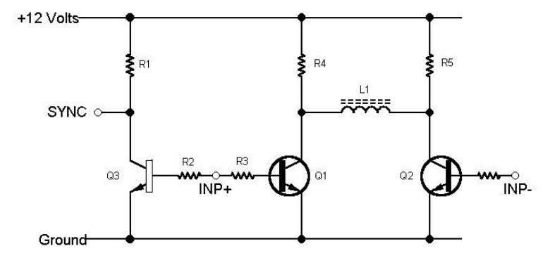 to it so you can connect it to the new deflection circuit. Here is the schematic