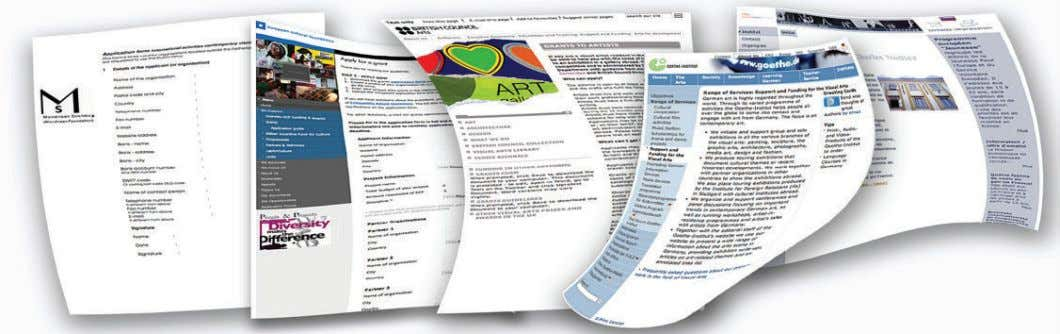 all the spotlights on you. In the background, a big picture filled with application forms. Tell
