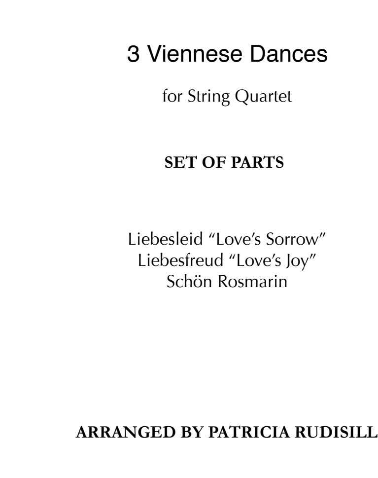 ! ! ! 3 Viennese Dances ! for String Quartet ! ! ! ! SET