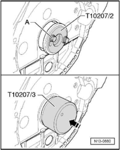 damper Page 8 / 11 - Separate both assembly sleeves. - Place assembly sleeve T1020 7/2