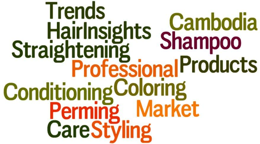 Here Cambodia Professional Hair Care Market (2015 - 2020) By Categories (Coloring, Perming & Straightening,
