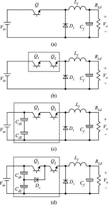 DC–DC CONVERTERS: TOPOLOGIES, ANALYSES, AND CONTROL 3735 Fig. 3. Derivation of the buck TL converter. cathode