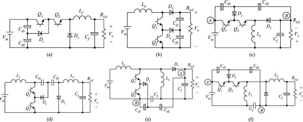 SYSTEMS—I: REGULAR PAPERS, VOL. 55, NO. 11, DECEMBER 2008 Fig. 4. Six nonisolated TL converters. (a)