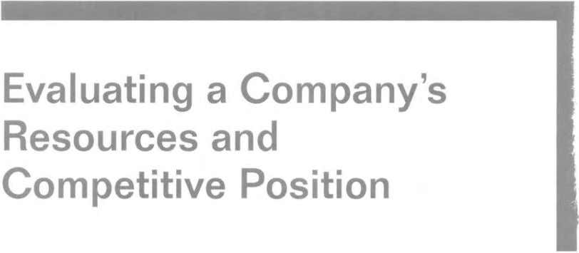Evaluating a Company's Resources and Competitive Position