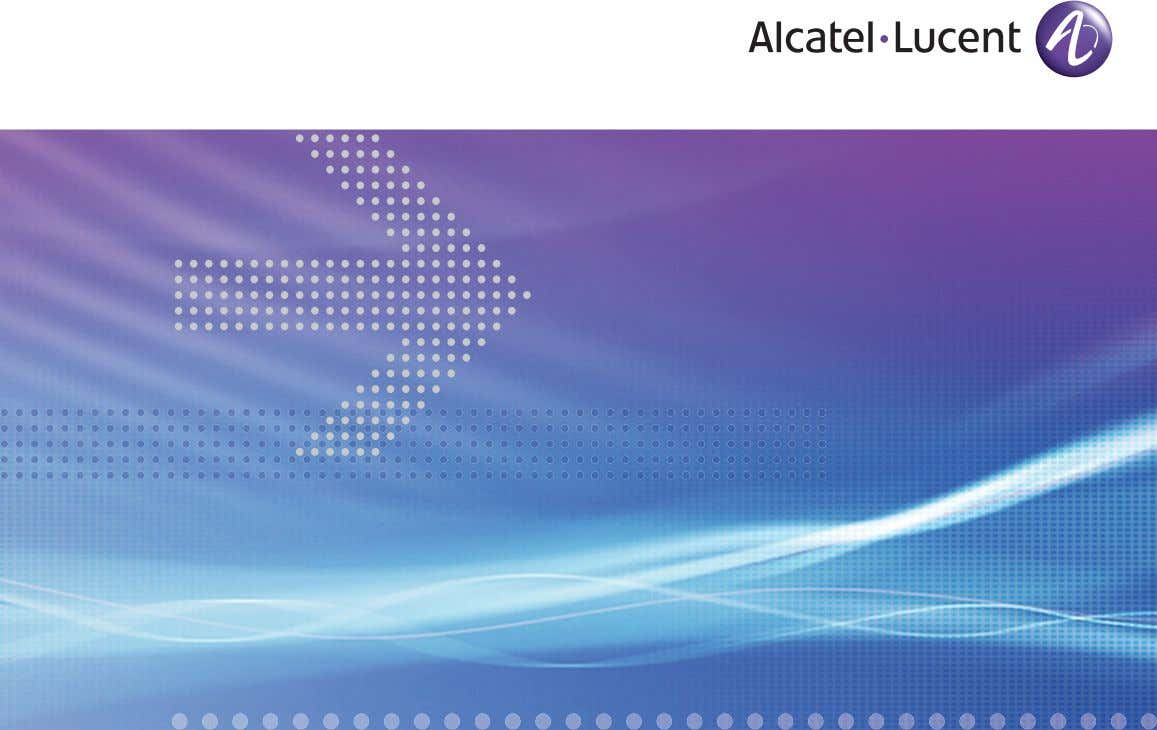 Alcatel-Lucent 5620 SERVICE AWARE MANAGER | RELEASE 7.0 TROUBLESHOOTING GUIDE Alcatel-Lucent Proprietary This document