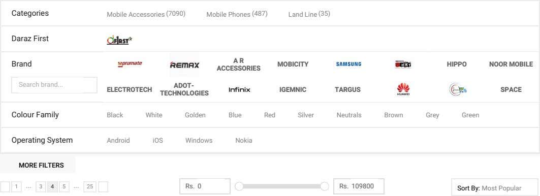 Categories Mobile Accessories (7090) Mobile Phones (487) Land Line (35) Daraz First A R Brand