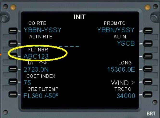 Identification (ACID) in the ATS flight plan. (FPL-ABC123-IS -B738/M-SDHIRWZ/S -YSSY0105 Indicative only Previous Next