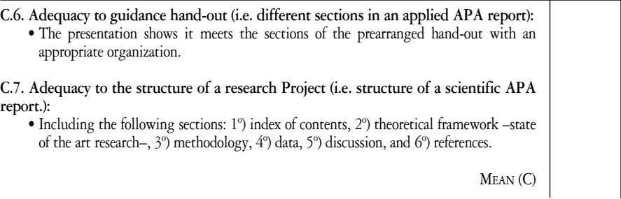 framework –state of the art research–, 3º) methodology, 4º) data, 5º) discussion, and 6º) references. M