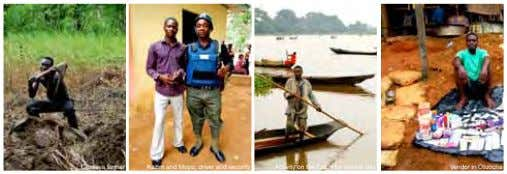 Cassava farmer Kazim and Mopo, driver and security Activity on the Ezichi for market day