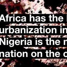 APPENDIXVISION VISION MOBILITYENERGY Africa has the highest rate of urbanization in human history. Nigeria is the