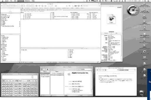 The Mac OS X GUI – windows GUI