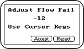 5 to select flow fail and the following screen is displayed: Adjust Flow Fail Page 20