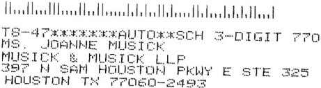 STANDARD U.S.POSTAGE PAID HOUSTON,TEXAS PERMIT NO. 11500 BIACKWOO B I EDD BLACKWOOD • 713-222-BAIL ( 2