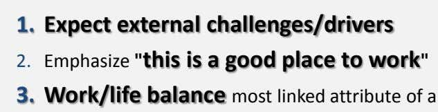 1. Expect external challenges/drivers