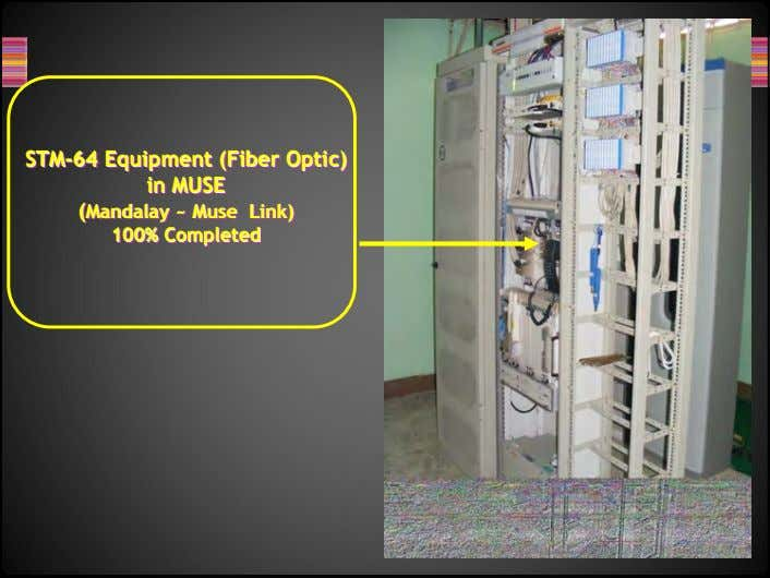 SSTMTM--6464 STM-64 EquipmentEquipment Equipment (Fiber(Fiber (Fiber Optic)Optic) Optic) inin in MUSEMUSE MUSE