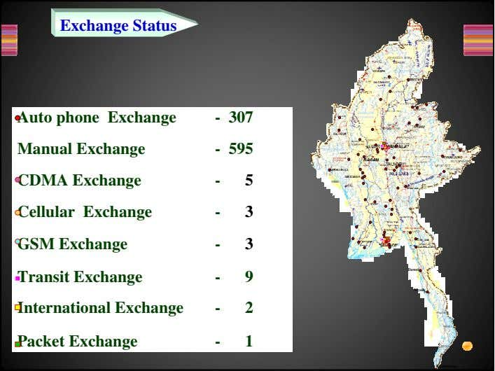 Exchange Status Auto phone Exchange Manual Exchange CDMA Exchange Cellular Exchange GSM Exchange - 307