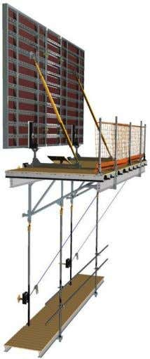 can be attached at low level to reduce work at height. Also, suspended uprights are offset