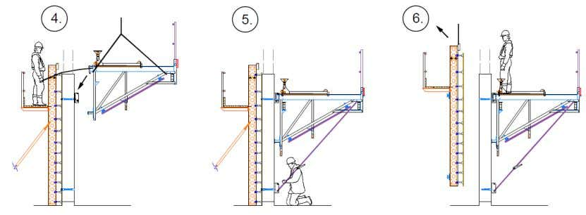 Typical Erection Sequence Second Lift Second Lift Second Lift Assemble the platforms and mount on the