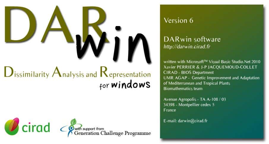 Last updated 2014/10/20 Send E-Mail to DARwin Team Contents Introduction 5 • Warning 5 •