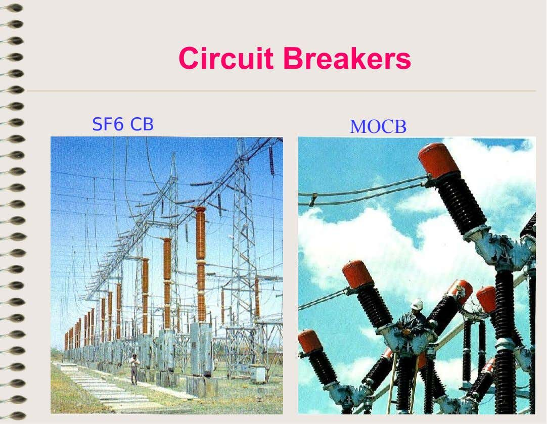 Circuit Breakers SF6 CB MOCB