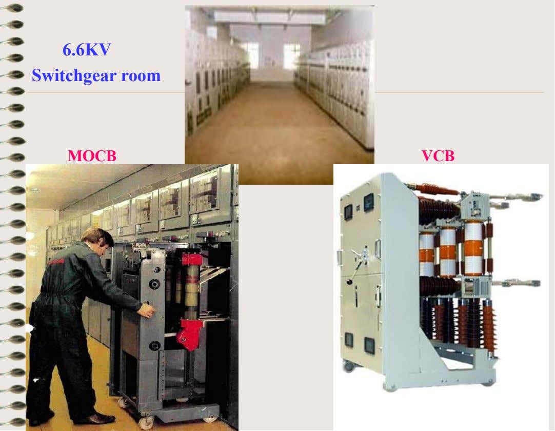 6.6KV Switchgear room MOCB VCB