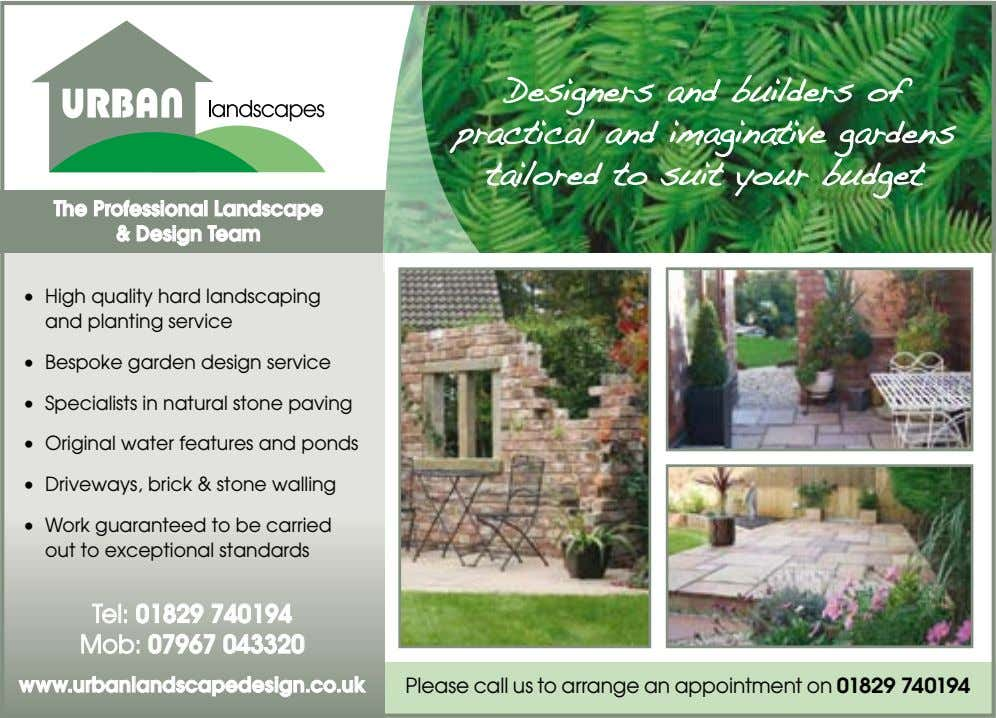 The Professional Landscape & Design Team • High quality hard landscaping and planting service •